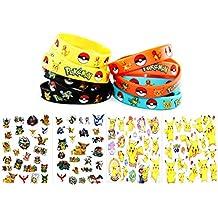 24 Pokemon Bracelets and 24 Pokemon Tattoos