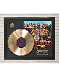 Beatles – SGT Peppers Lonely Hearts Framed Signature LP Record Display M4