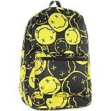 Nirvana Backpack Smiley Face Rock Band Music Logo