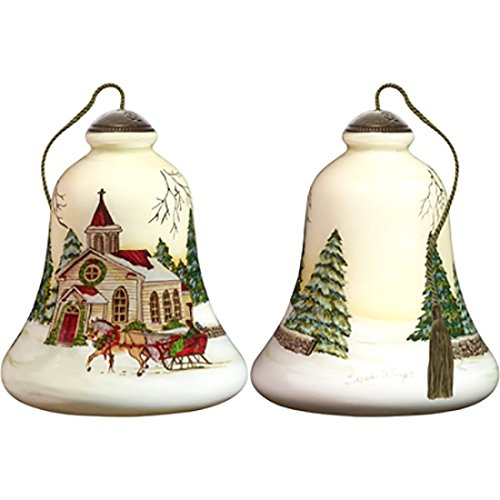 Ne'Qwa Art Hand Painted Blown Glass Holy Holiday Ornament,