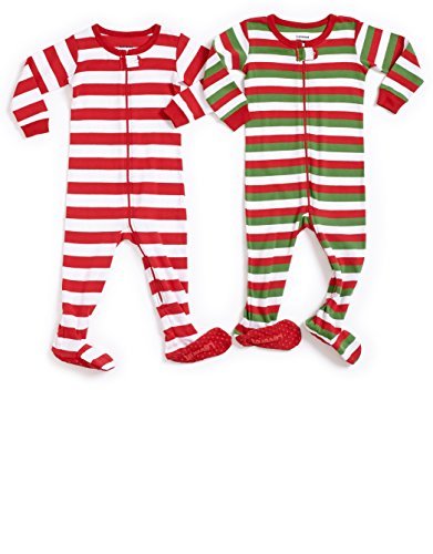 1015e0f1e8 Leveret Striped Baby Boys Girls Footed Pajamas Sleeper 100% Cotton Kids    Toddler Christmas Pjs ...