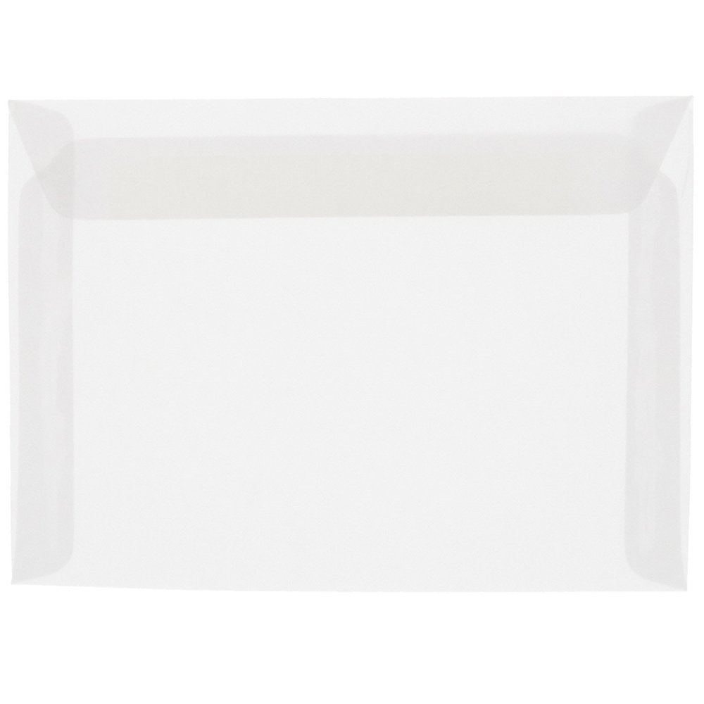 JAM PAPER 9 x 12 Booklet Translucent Vellum Envelopes - Clear - 50/Pack by JAM Paper