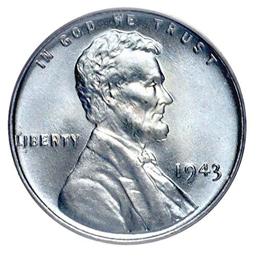 - 1943 D Steel Cent 1¢ Brilliant Uncirculated