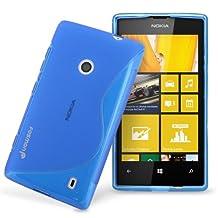 Fosmon DURA S Series Flexible SLIM-Fit TPU Case for Nokia Lumia 520 (Blue)