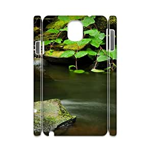 3D Samsung Galaxy Note 3 Cases, Young Calm Stream Cases for Samsung Galaxy Note 3 {White}