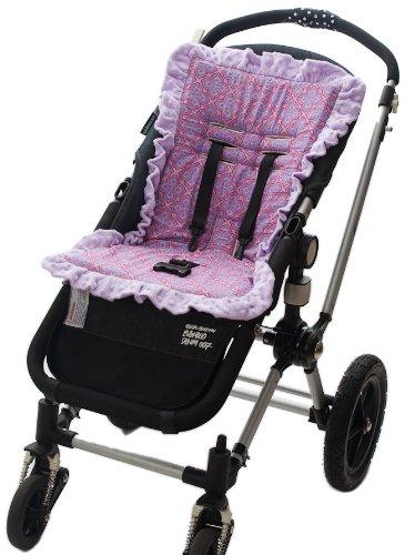 Baby-BeeHaven Cush n' Go Memory Foam Stroller Cushion Liner, Preslee Purple