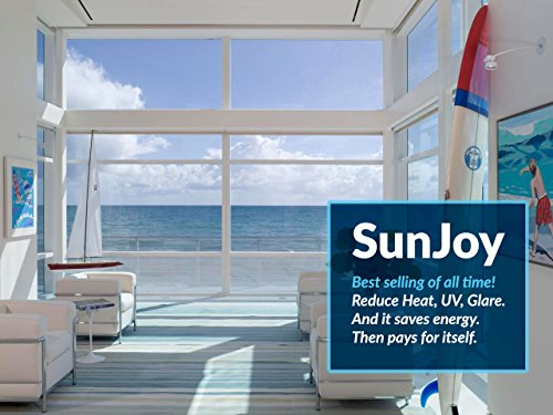 SunJoy 20 Home Commercial Window Tint Film Solar UV Glare Heat Control Privacy - 40 Inch By 10 Feet by The Black Box Tint (Image #3)