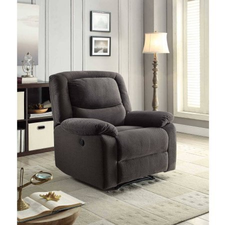 Serta Power Recliner, Grey | 37.75'W x 38'D x 41'H