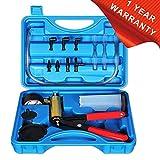 Hand Held Vacuum Pump Tester Set Vacuum Gauge and Brake Bleeder Kit