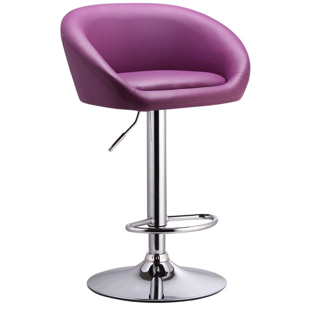 カウンターチェア高いスツールバーキッチン朝食ダイニングチェアは、上下に昇降できる/ビジネスやビジネスのためのビジネスホールの椅子を回すことができます (色 : パープル ぱ゜ぷる) B07DK6GZ91 パープル ぱ゜ぷる パープル ぱ゜ぷる
