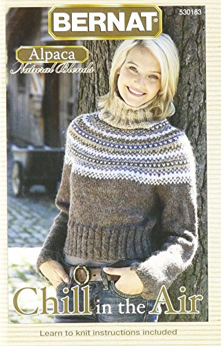 (Spinrite Bernat Knitting and Crochet Pattern Book, Chill in The Air, Alpaca)