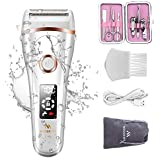 Miserwe Womens Electric Razor Painless Lady Shaver Wet and Dry Cordless Rechargeable Women's Hair Remover Body Hair Remover f