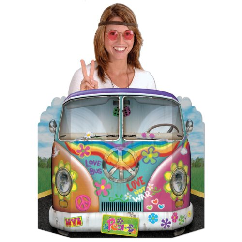 Hippie Bus Photo Prop Party Accessory (1 count) (1/Pkg) ()