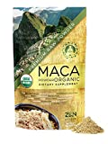 Maca Powder Organic - Peruvian Premium Grade Superfood (Raw) - USDA & Vegan Certified - 226.7g (8oz) - Perfect for Breakfast, Smoothies, Baking & Ice Cream.