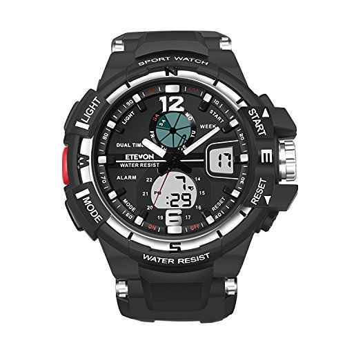 ETEVON Men's 'Galaxy' Fashion Analog Digital Wrist Watch