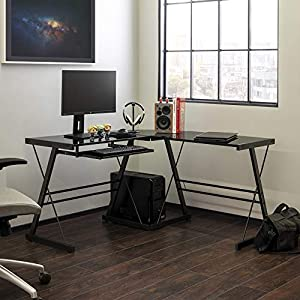 L-shaped gaming desk by Walker