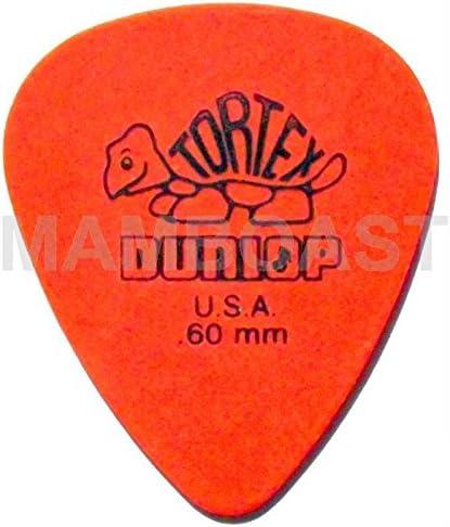 Dunlop - 12 púas de guitarra Tortex estándar, 0,5 0,6 0,73 0,88 1 1,14 mm (0,6 mm), color naranja: Amazon.es: Instrumentos musicales