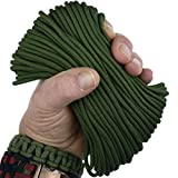 MilSpec Paracord Camo Green 483, 110 ft. Hank, Military Survival Braided Parachute 550 Cord. Use with Paracord Tools for Tent Camping, Hiking, Hunting Ropes, Bracelets & Projects. Plus 2 eBooks.