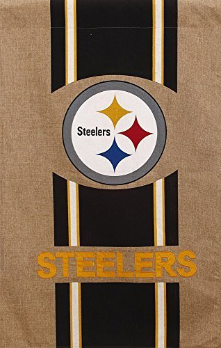 Pittsburgh Steelers Burlap Flag 28 x 44 by Evergreen Enterprises