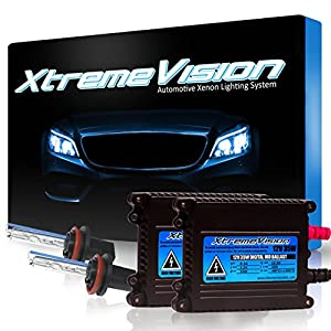 XtremeVision 35W HID Xenon Conversion Kit with Premium Slim Ballast - H11 5000K - Bright White - 2 Year Warranty