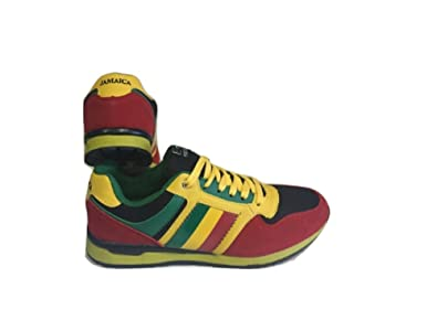 Mens trainers yellow red green shoes sneakers jamaica original jamaica flag gold green black rasta sneaker trainers 6 voltagebd Gallery