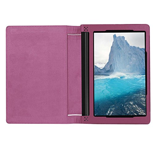 Asng Lenovo Yoga Tab 3 8 Case - Slim Folding Stand Cover Smart Case for 2015 Lenovo Yoga Tab3 8-Inch Tablet (Purple)