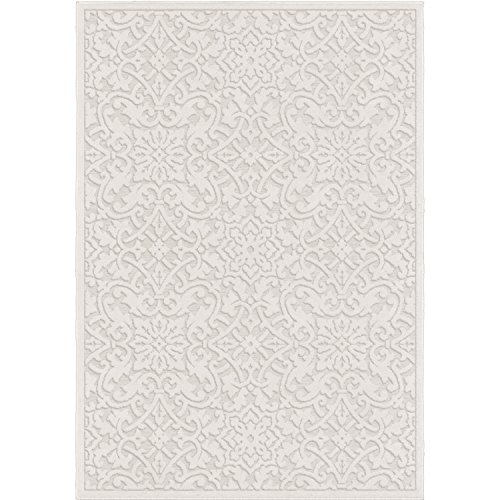 Orian Rugs Boucle Collection 397086 Indoor/Outdoor High-Low Biscay Area Rug, 7'9