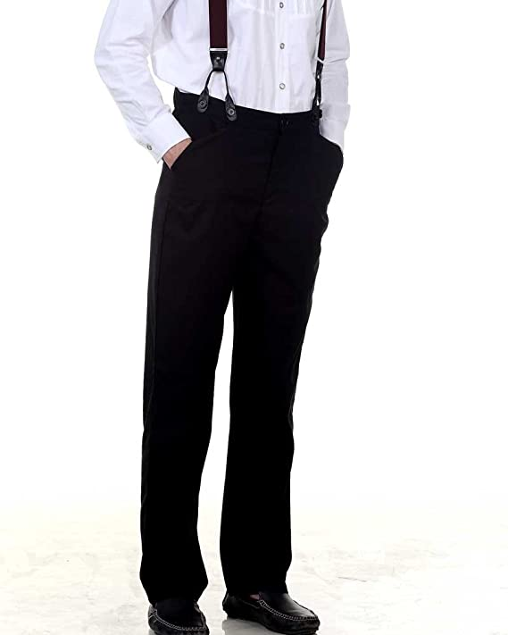 Edwardian Men's Pants Classic Victorian Mens Trouser  AT vintagedancer.com