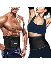 DINOKA Bauchweggürtel, Taillen-Trimmer Fitnessgürtel Schwitzgürtel Waist Trimmer Slimmer Belt für Herren und Damen zum Abnehmen und Muskelaufbau, Sport Fitness,Training,Yoga, Boxing, Cycling