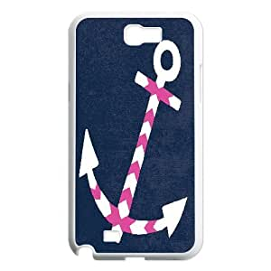 Nuktoe Anchor Blue Case For Samsung Galaxy Note 2 With Unique Design With White