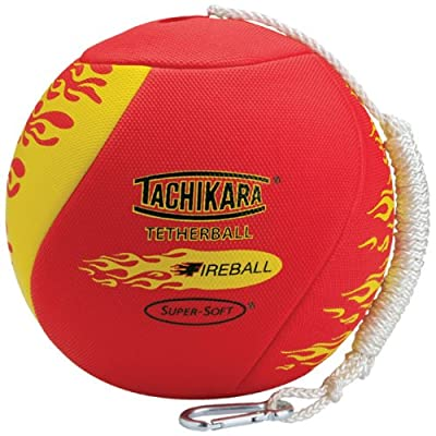 Tachikara Fireball Super-Soft Tetherball with Diamond Textured Cover : Tetherball Equipment : Sports & Outdoors
