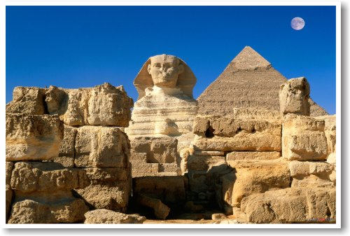 Egyptian Sphinx and Pyramid - NEW World Travel Poster