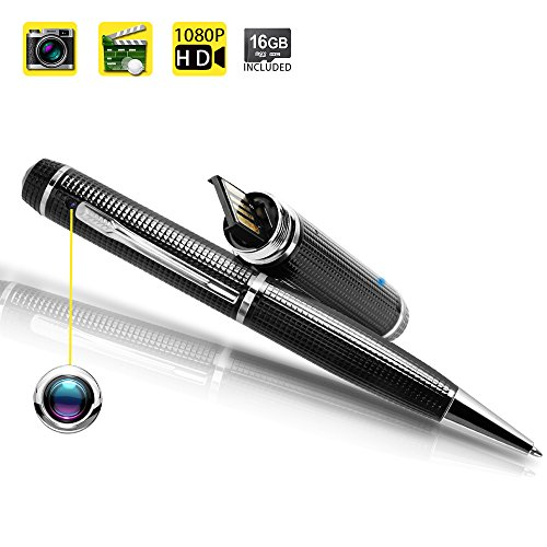Toughsty 16GB 1920?1080P HD Portable Hidden Camera Pen Video Recorder Mini DV Camcorder with Real Time Video Recording Function (MT-P8000)