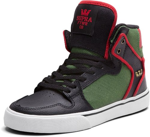 Supra Men's Kids Vaider Gymnastics Shoes Multicolor Size: - Black/Forest Green/White buy cheap Inexpensive RenZu9