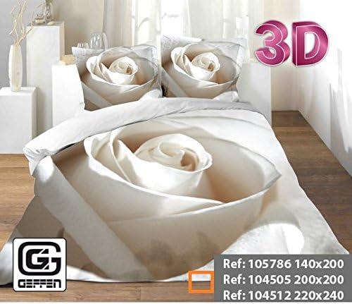 Geffen Parure De Lit Set 1 Housse De Couette 3d 1 Drap 2 Taies D Oreiller 200cm X 200 Cm Amazon Fr Cuisine Maison