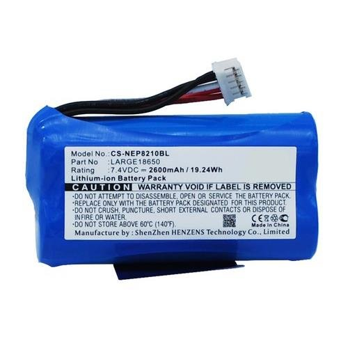 Newpos Large18650 Battery Replacement - (Li-Ion, 7.4V, 2600mAh) Ultra Hi-Capacity Battery by Synergy Digital