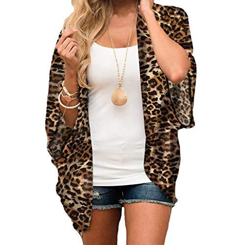Randolly Womens Blouse,Ladies Summer Leopard Chiffon Beach Kimono Cardigan Blouse Shawl Loose Tops - Polka Lace Dot Sheer