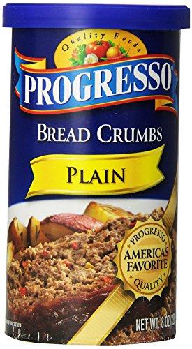 Progresso Plain Bread Crumbs, 8 oz (Pack of (Designed Plain)