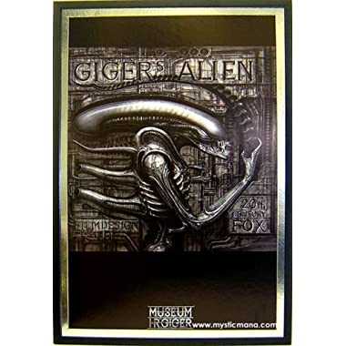 Gigers Alien Framed & Dry Mounted With Silver Metallic Matting 25x37