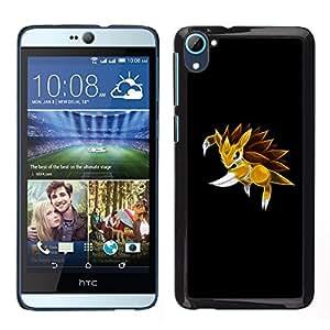 A-type Arte & diseño plástico duro Fundas Cover Cubre Hard Case Cover para HTC Desire D826 (Meter Monster erizo amarillo)