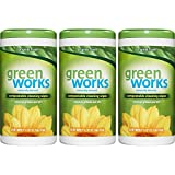 Green Works Compostable Cleaning Wipes, Original Fresh, 186 Count (Packaging May Vary)
