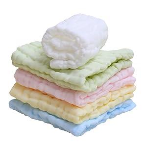Lucear 6 pack Bebé Toallita Recién Nacidos Muselina