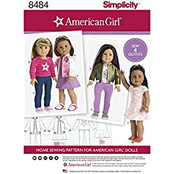 Simplicity Pattern 8484 American Girl 18 Doll Clothes SEWING PATTERN