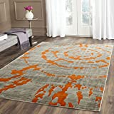 Cheap Safavieh Porcello Collection PRL7735F Light Grey and Orange Area Rug (5'2″ x 7'6″)