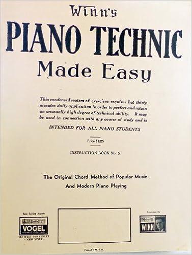 Winns Piano Technic Made Easy The Original Chord Method Of Popular