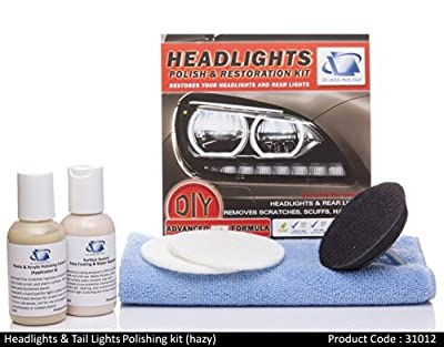 Headlight, Tail Light Polishing Kit - Restore haziness, Dull/ Faded/ Discolored Headlights, DIY Repair used with electric drill