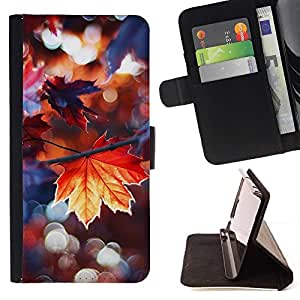 Momo Phone Case / Flip Funda de Cuero Case Cover - Lluvia de otoño dom árbol Naturaleza - Samsung Galaxy E5 E500