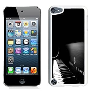 Fashionable Custom Designed iPod Touch 5 Phone Case With Steinway And Sons Black Piano_White Phone Case