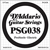 D'Addario PSG038 ProSteels Electric Guitar Single String, .038