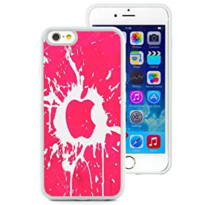 Fashion Custom Designed Cover Case For iPhone 6 4.7 Inch TPU Ink Splat Apple White Phone Case